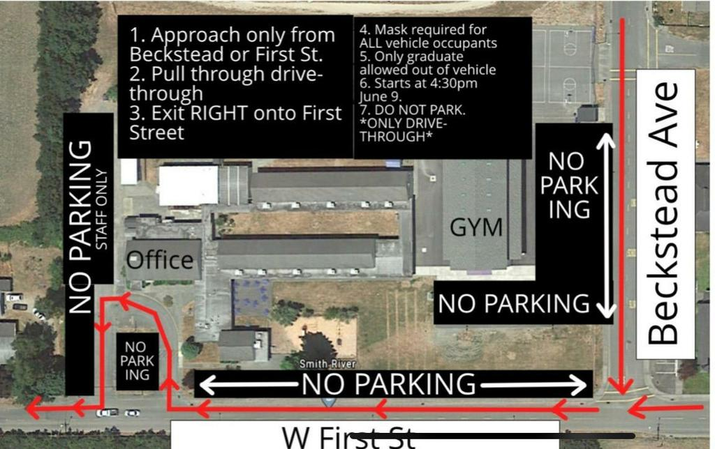 8th grade Graduation drive thru map