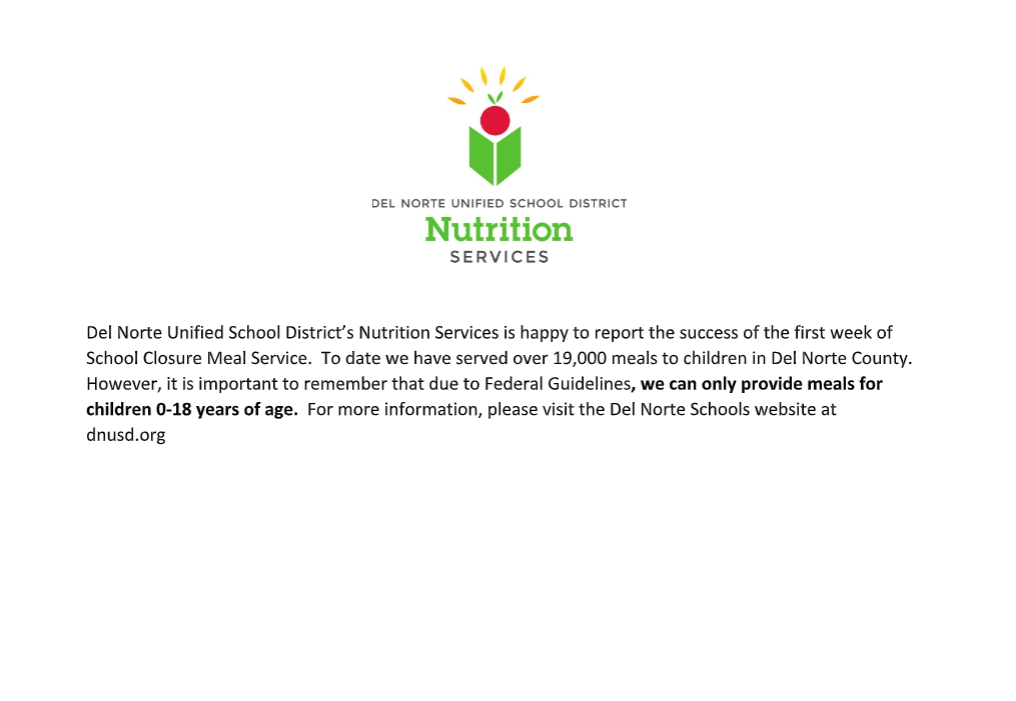 Del Norte Nutrition Services - 3-20-2020