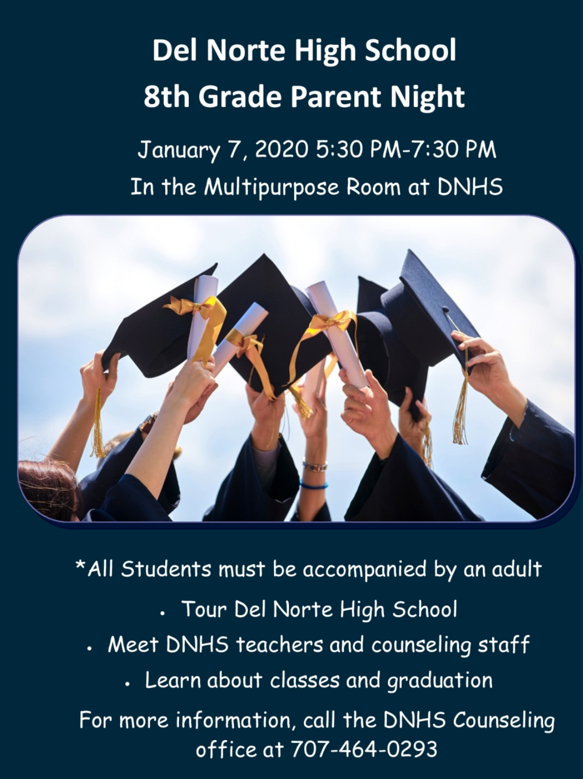Del Norte High School 8th Grade Parent Night