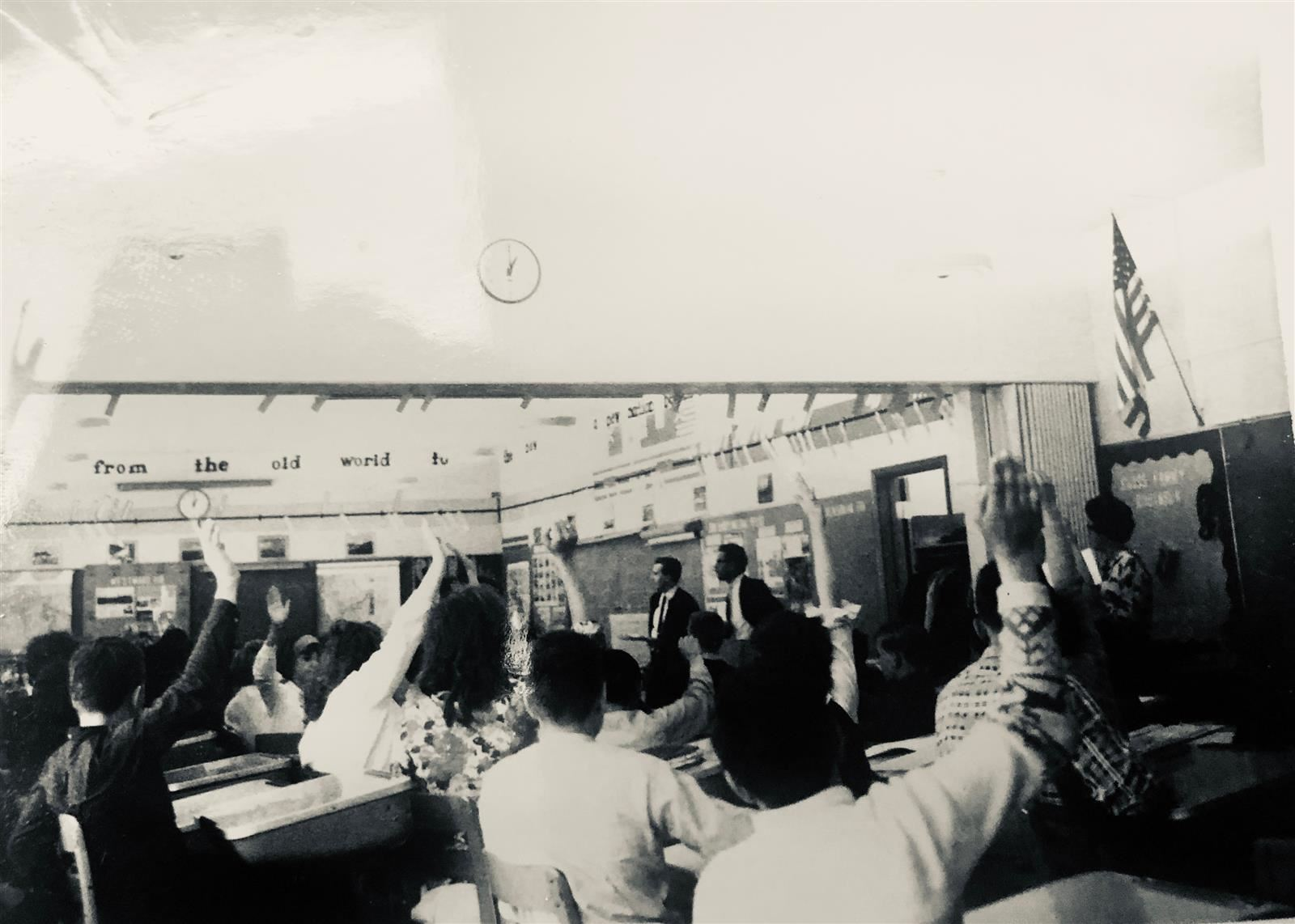 Picture of Crescent Elk's Up Stairs Classroom in the 1960s