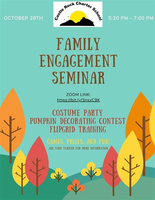 Family Engagement costume party flyer